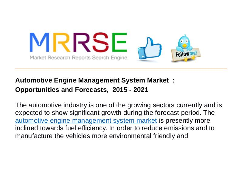 MRRSE Automotive Engine Management System Market