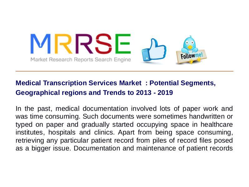 Medical Transcription Services Market