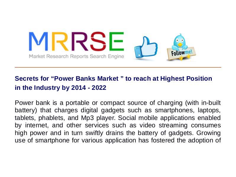 MRRSE Power Banks Market