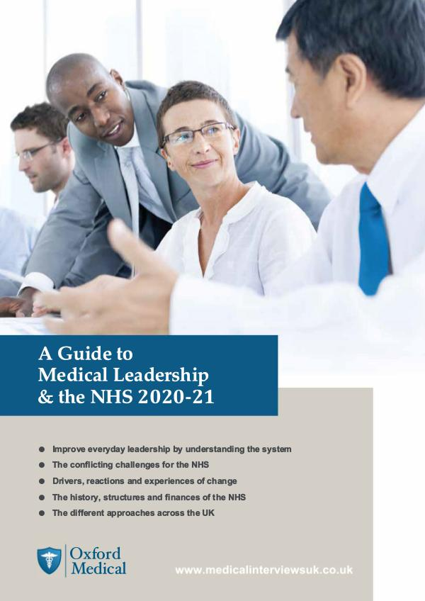 Preview A Guide to Medical Leadership & the NHS 2020-21 [PREVIEW] A Guide to Medical Leadership & the NHS