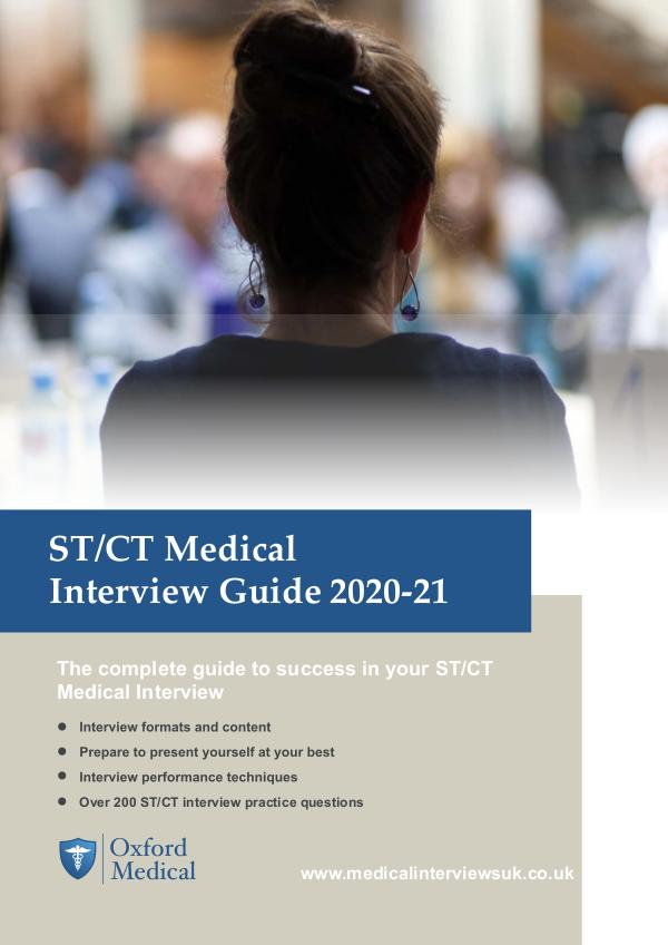 Preview ST & CT Interview Guide 2020-21 [PREVIEW] ST&CT Interview Guide 2020-21