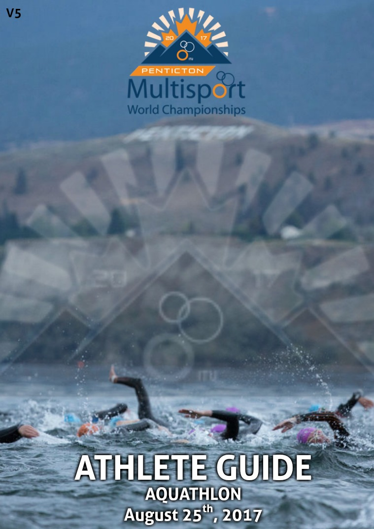 2017 Penticton World Championships- Athletes Guide Aquathlon