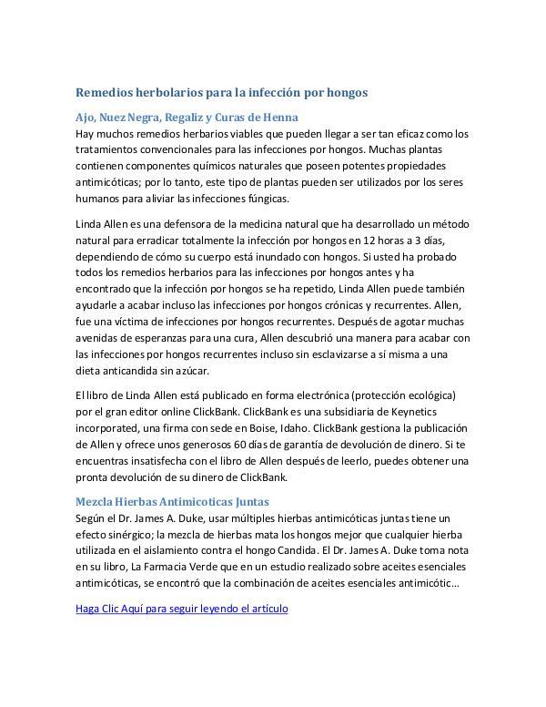 Los Mejores Remedios Caseros Para Las Infecciones Por Hongos   Que Fu Remedios herbolarios para la infección por hongos