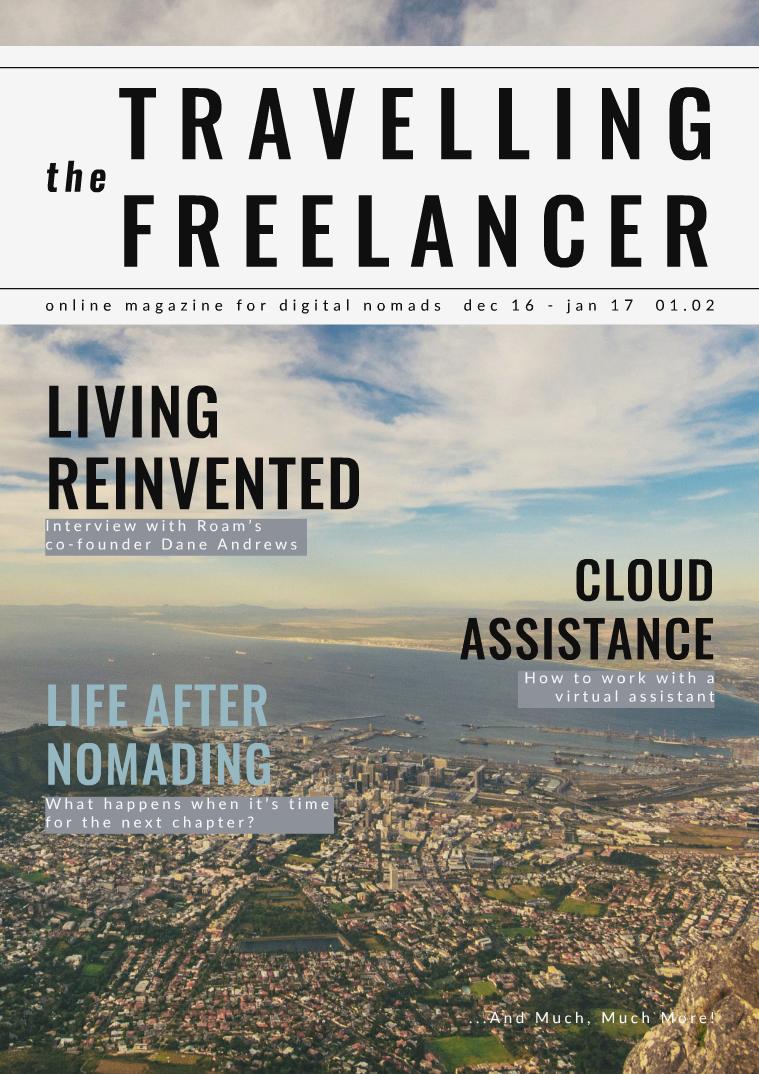 The Travelling Freelancer Dec. 2016 - Jan. 2017