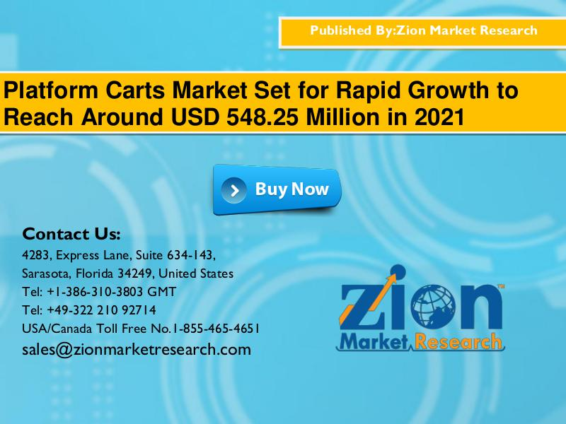 Platform Carts Market will Reach USD 548.25 Million in 2021: Zion Mar 1