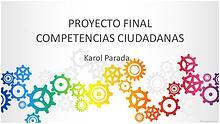 PROYECTO FINAL COMPETENCIAS CIUDADANAS