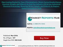 Pipe Coating Market to Register 4.5% CAGR by 2021 Mar 2016