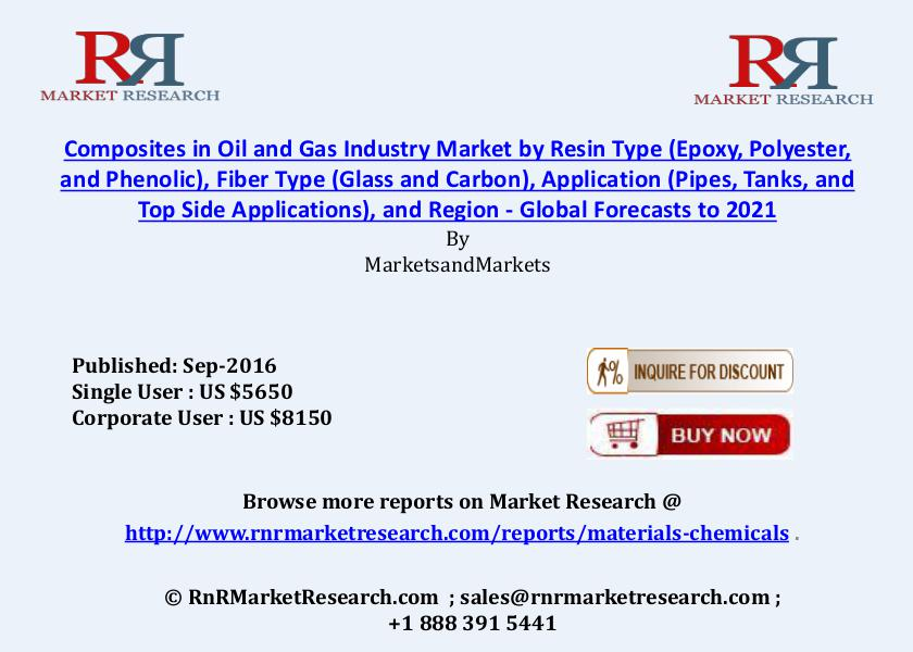 Composites in Oil & Gas Industry Market: Global Forecasts to 2021 Sep 2016