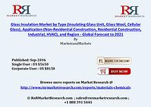 Glass Insulation Market: Global Forecasts to 2021