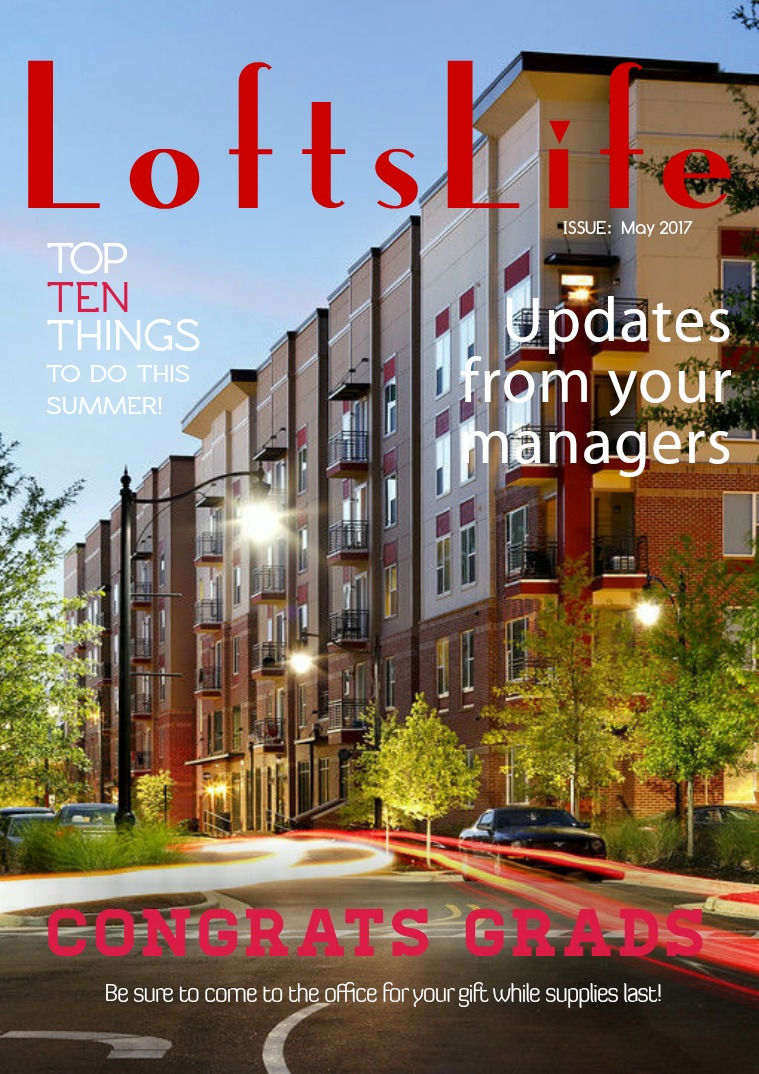 #LoftsLife Newsletter May 2017