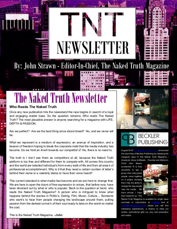 The Naked Truth Newsletter October 24th, 2016