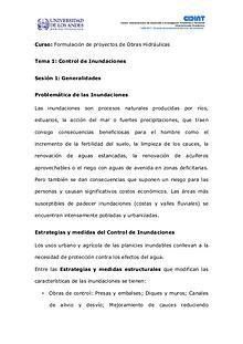 Generalidades del Control de Inundaciones