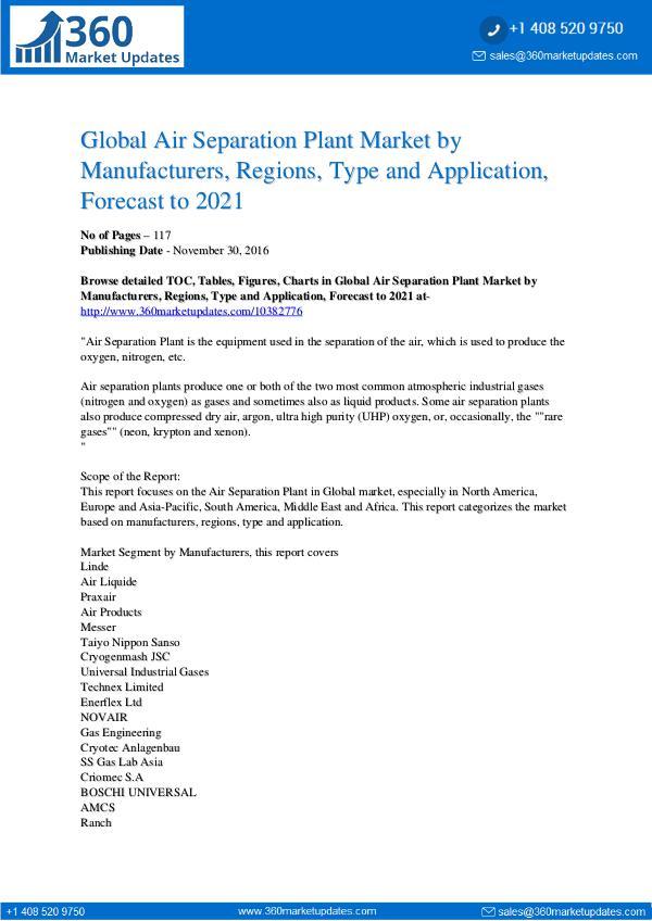 Air Separation Plant Market Analysis
