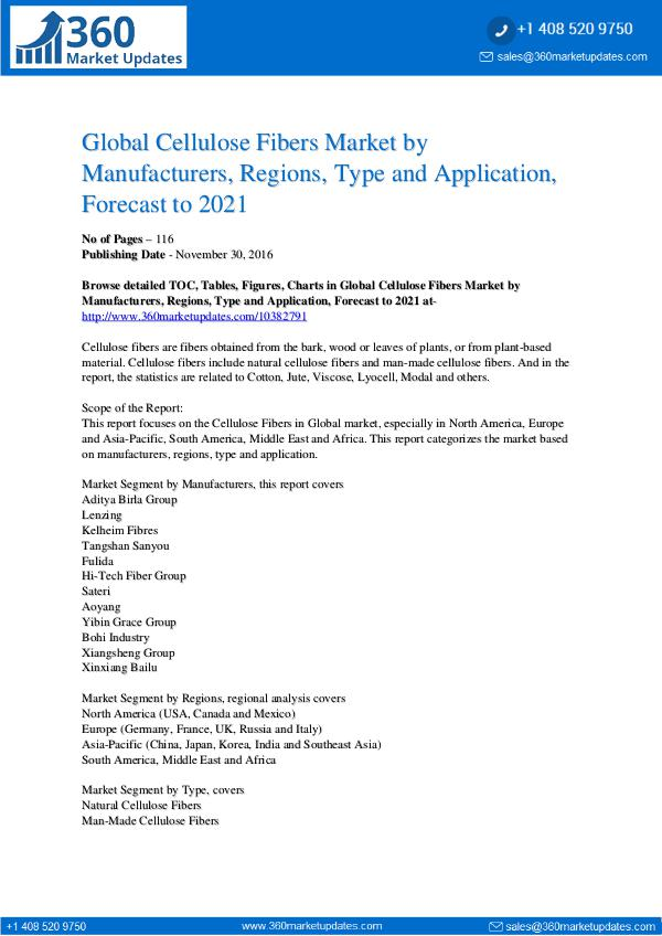 Reports- Cellulose Fibers Market Growth Analysis