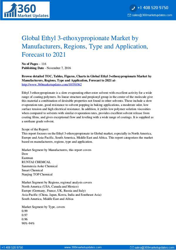 Ethyl 3-Ethoxypropionate Market Trends