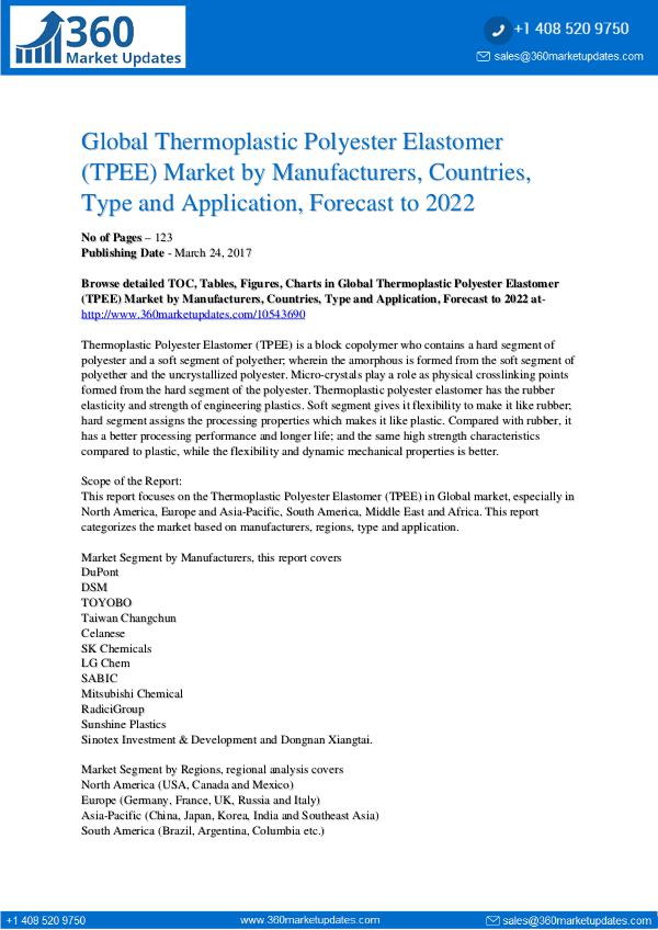 Reports- Thermoplastic Polyester Elastomer (TPEE) Market