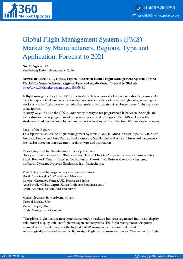 Flight Management Systems Market