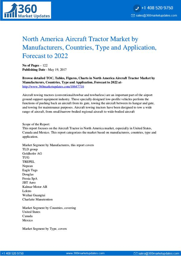 Aircraft Tractor Market Segmentation