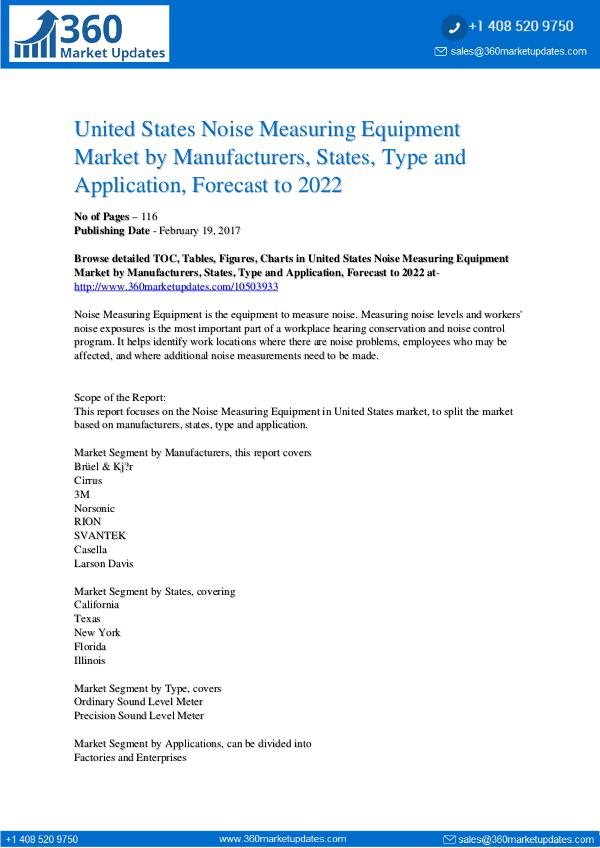 Reports- Noise Measuring Equipment Market