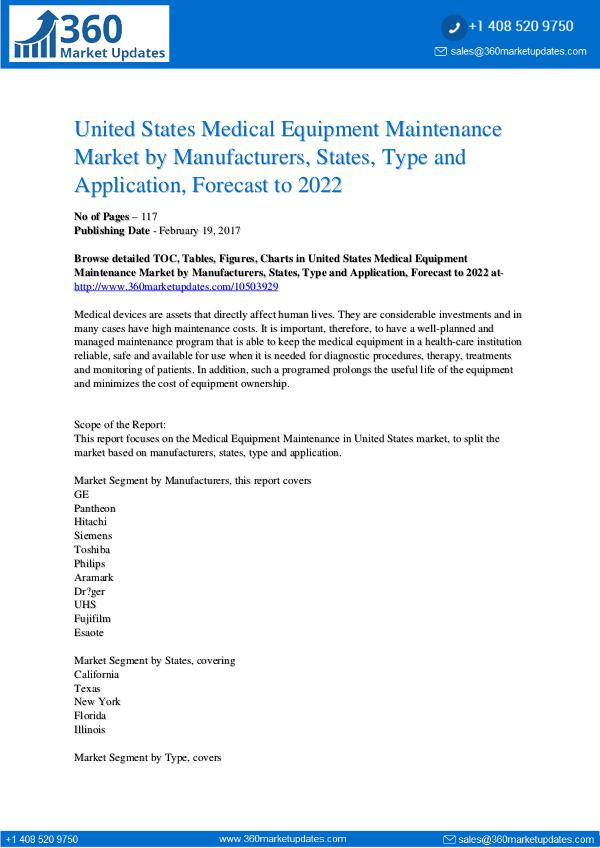Reports- Medical Equipment Maintenance Market