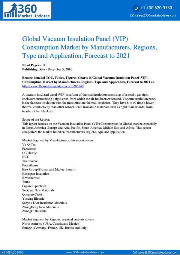Vacuum Insulated Panel Market