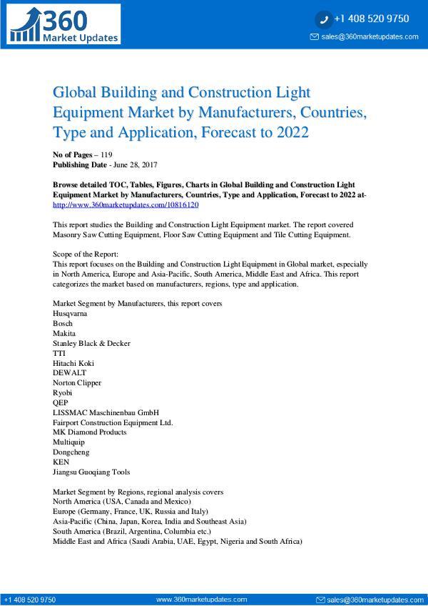 Building and Construction Light Equipment Market