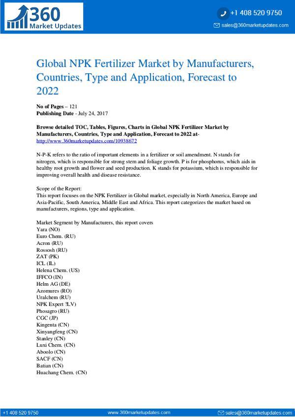 Reports- NPK Fertilizer Market Analysis