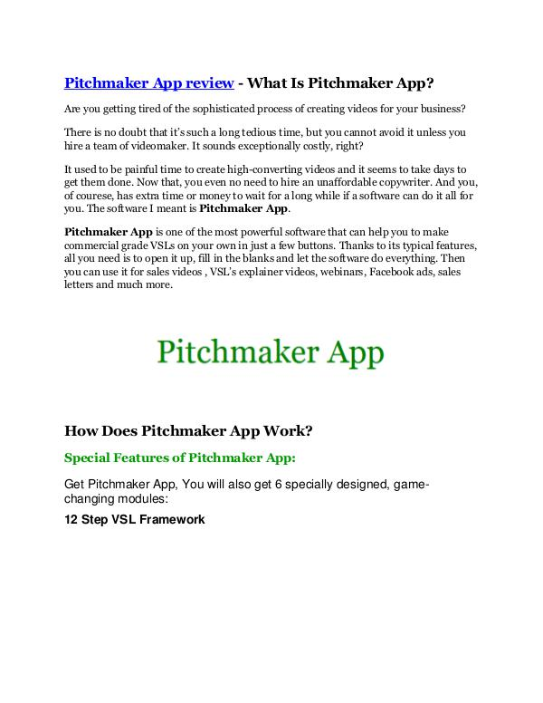 MARKETING Pitchmaker App Review & (BIGGEST) jaw-drop bonuses