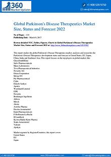 Global Parkinson's Disease Therapeutics Market Size, Sales, Share