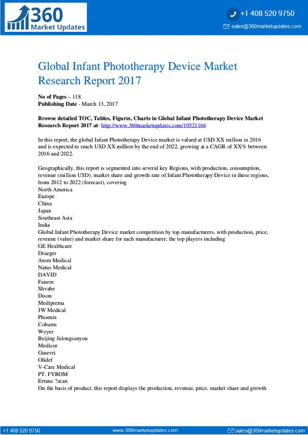 Global Infant Phototherapy Device Market Analysis and Prediction Infant Phototherapy Device Market Report Forecast