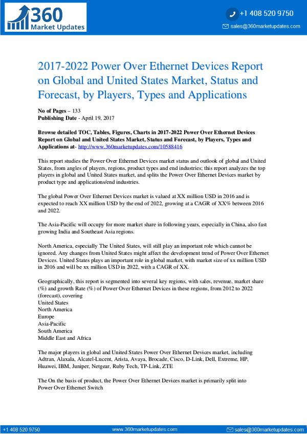 Power Over Ethernet Devices Market by product type, with sales Power-Over-Ethernet-Devices-Report-on-Global-and-U