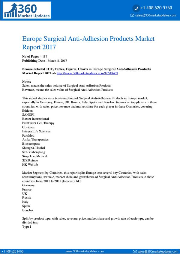Surgical-Anti-Adhesion-Products-Market-Report-2017