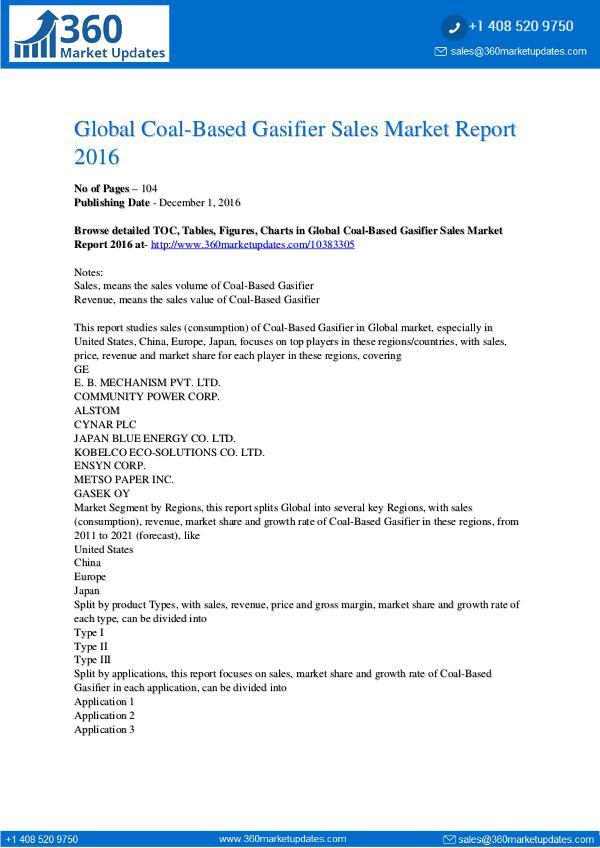 Report- Coal-Based-Gasifier-Sales-Market-Report-2016