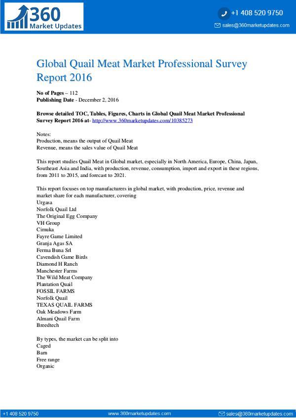 Global-Quail-Meat-Market-Professional-Survey-Repor