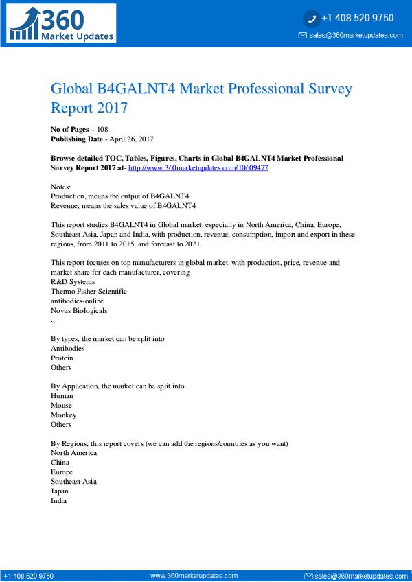 Market research Global-B4GALNT4-Market-Professional-Survey-Report-