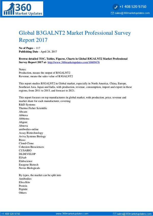 Market research Global-B3GALNT2-Market-Professional-Survey-Report-