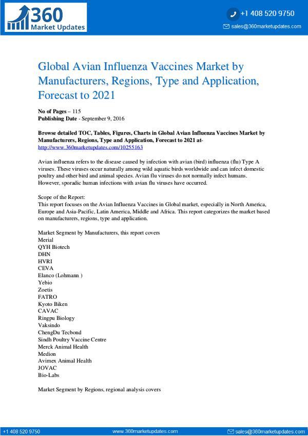 Amar Patil PDF Global Avian Influenza Vaccines Market