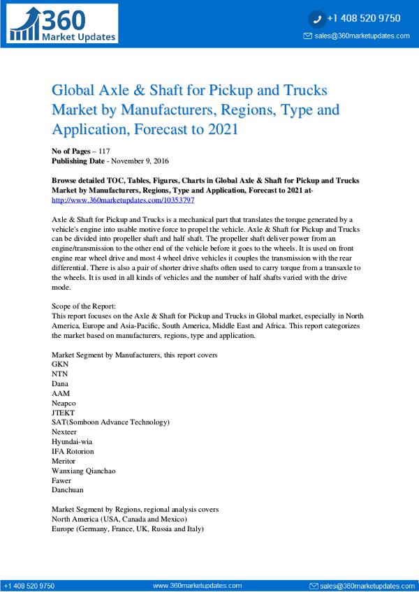 12-6-17 Global-Axle-Shaft-for-Pickup-and-Trucks-Market-by-