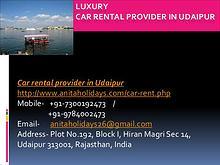 Luxury Car Rental Provider in Udaipur