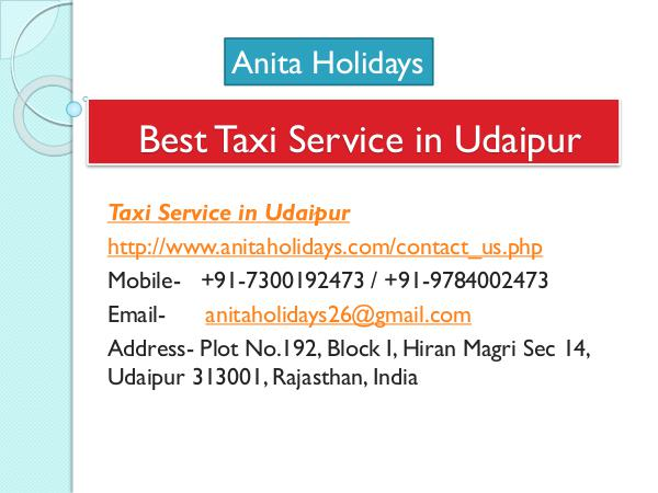 Best Taxi Service in Udaipur Best Taxi Service in Udaipur