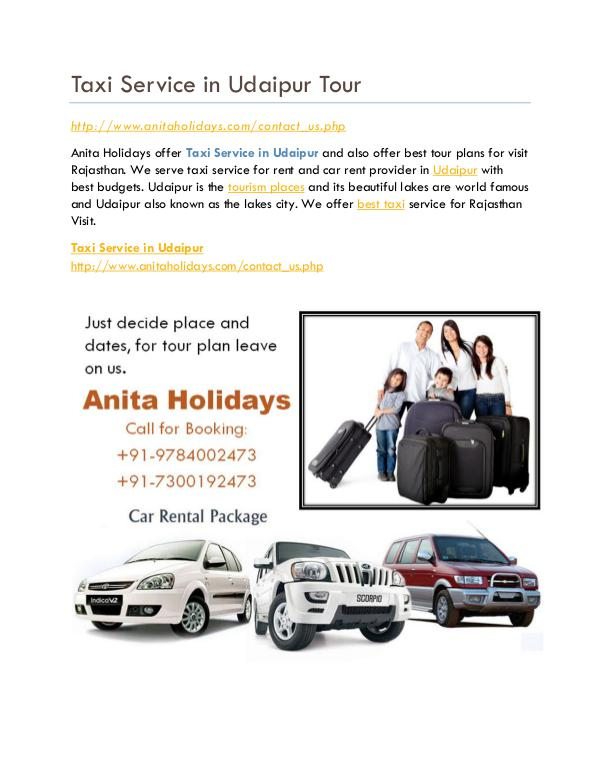 Taxi Service in Udaipur Full Day Taxi Service in Udaipur Tour