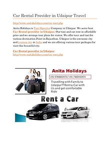 Car Rental Provider in Udaipur Full Day