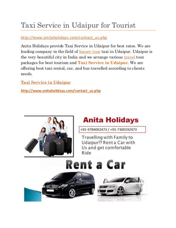 Taxi Service in Udaipur Full Day Taxi Service in Udaipur for Tourist