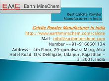 Best Calcite Powder Manufacturer in India