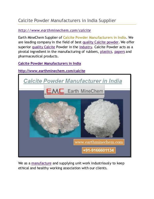 Calcite Powder Manufacturer in India Calcite Powder Manufacturers in India Supplier
