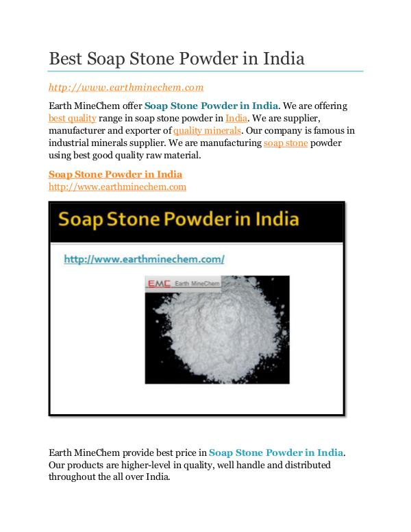 Soap Stone powder in India Best Soap Stone Powder in India