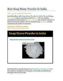 Soap Stone powder in India
