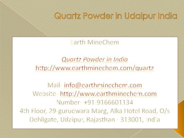 Quartz Powder in India Price Quartz Powder in Udaipur India
