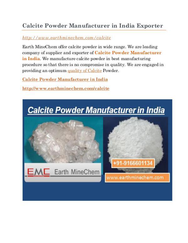 Calcite Powder Manufacturer in India Calcite Powder Manufacturer in India Exporter