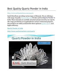 Quartz powder in India